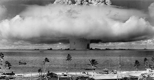 Atombomb över vatten