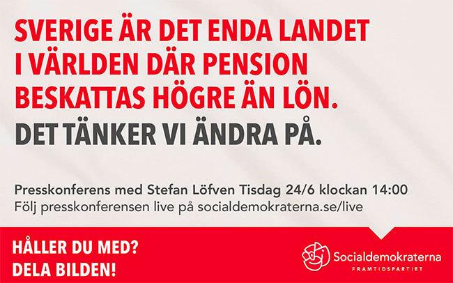 Delningsbild fran socialdemokraterna i valet 2014