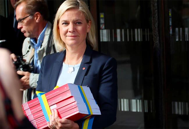 Magdalena Andersson med statsbudget 2017