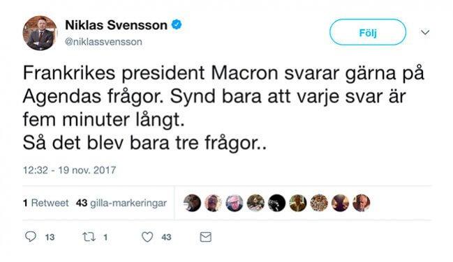 Twitter-Niklas-Svensson-om-Emmanuel-Macron